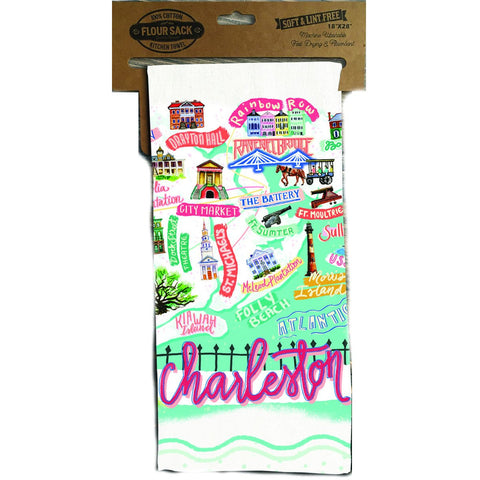 Charleston Icon Kitchen Towel - Pluff Mud Mercantile