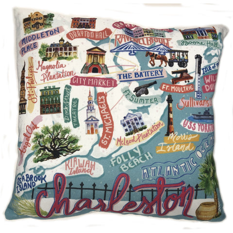 Charleston Icon Pillow - Pluff Mud Mercantile