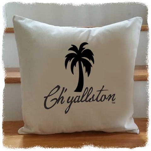 Ch'yallston Brand Palmetto Throw Pillow - Pluff Mud Mercantile
