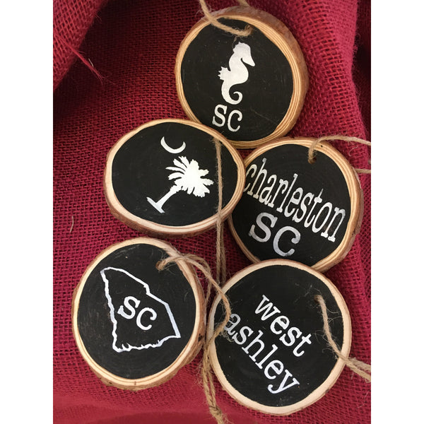 Hand Painted Southern Ornaments - Pluff Mud Mercantile