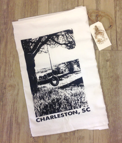 Summer Swingin' by the Marsh Flour Sack Towel - Pluff Mud Mercantile