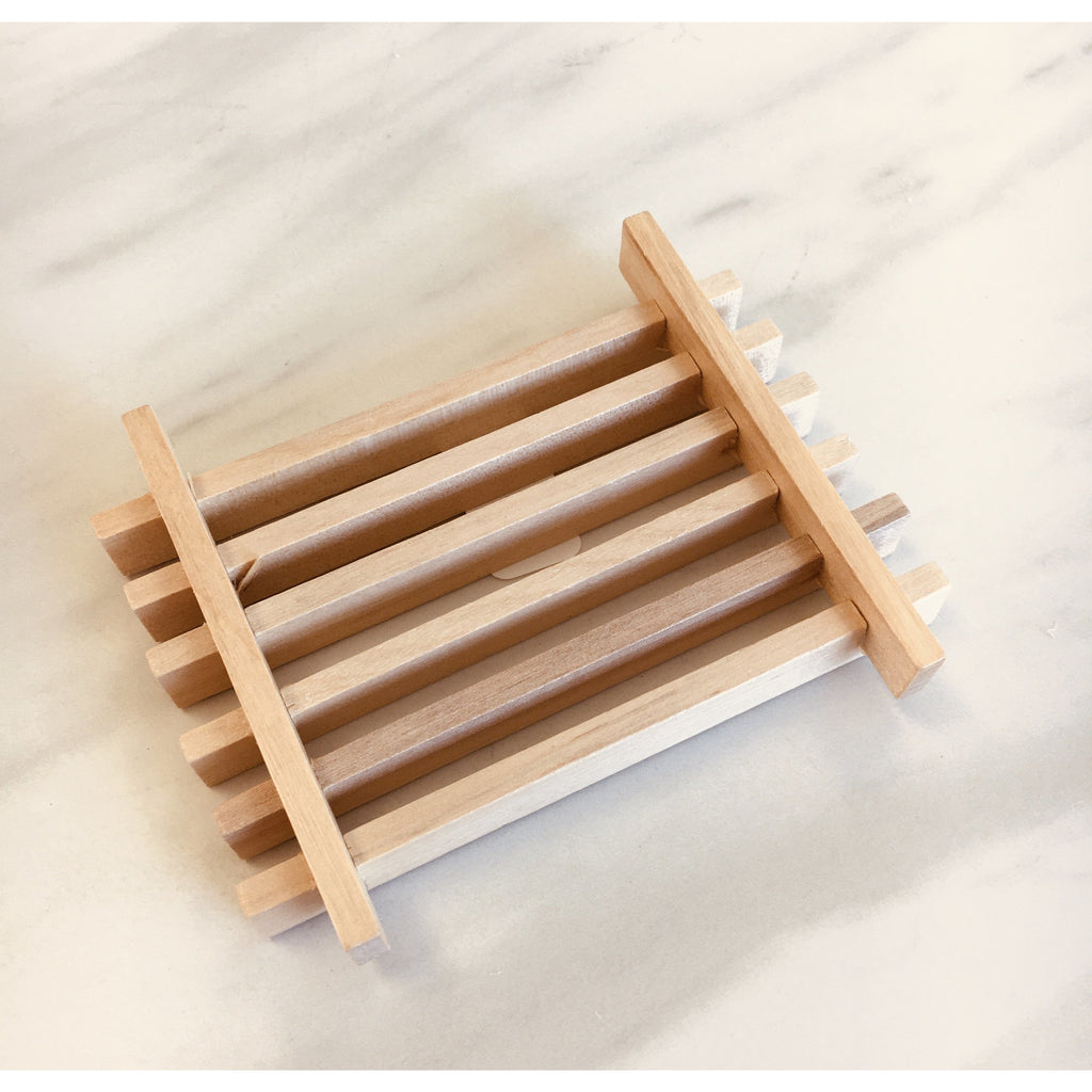 Wooden Slotted Soap Dish - Pluff Mud Mercantile