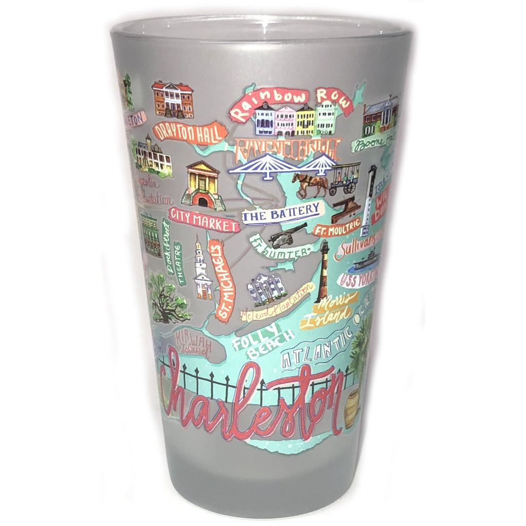 Charleston Icon Pint Glass - Pluff Mud Mercantile