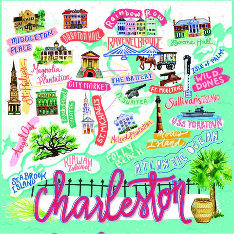 Charleston Icon Puzzle - Pluff Mud Mercantile