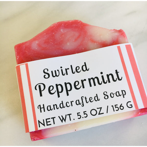 Swirled Peppermint Handcrafted Soap - Pluff Mud Mercantile