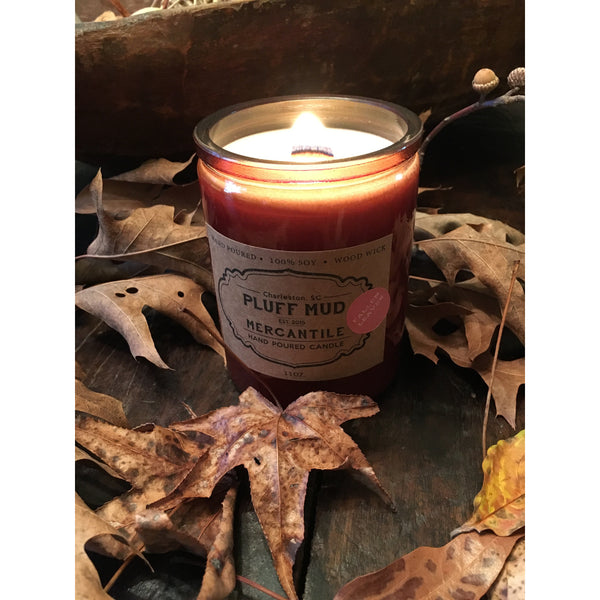 """Fallen Leaves"" Hand Poured Soy Candle - Pluff Mud Mercantile"