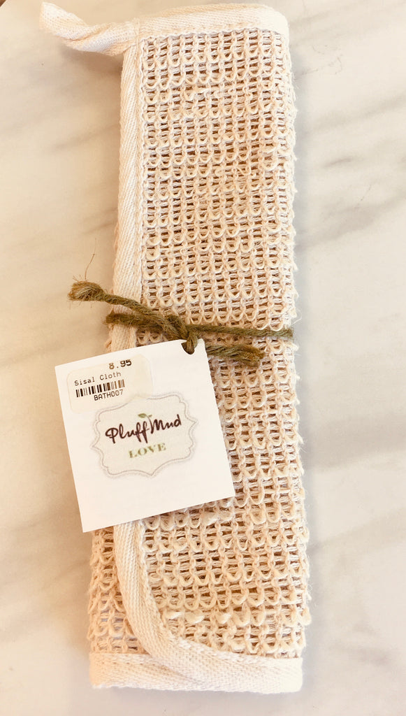 Sisal Natural Exfoliating Cloth - Pluff Mud Mercantile
