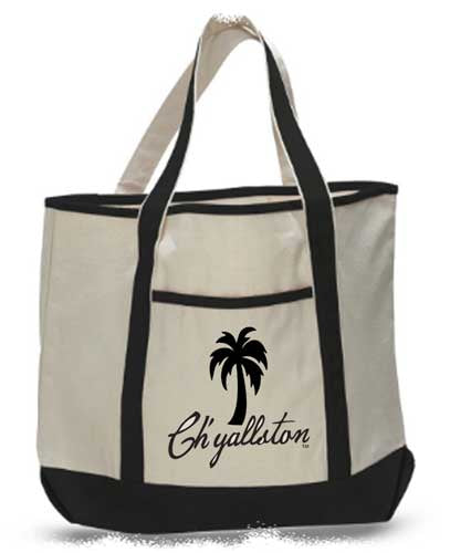 Ch'yallston Deluxe Canvas Travel/Beach Tote - Pluff Mud Mercantile