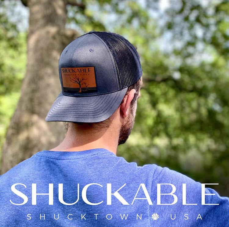 Boneyard Tree Edisto Landscape - Shuckable Trucker Hat - Pluff Mud Mercantile