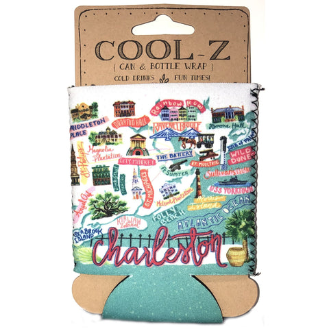 Charleston Icon Koozie - Pluff Mud Mercantile