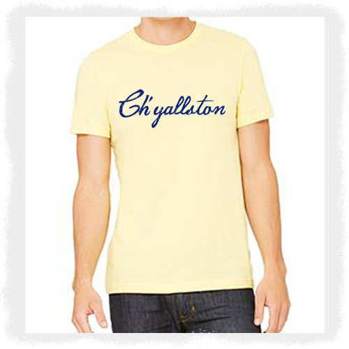 Ch'yallston Yellow/Navy Logo T-Shirt - Pluff Mud Mercantile