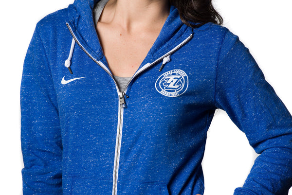 Nike Gym Vintage Royal Blue Full Zip Jacket
