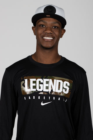 Nike Legends Basketball Camo LS Tee