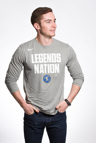 Nike Dri-Fit Legends Nation: LS Grey