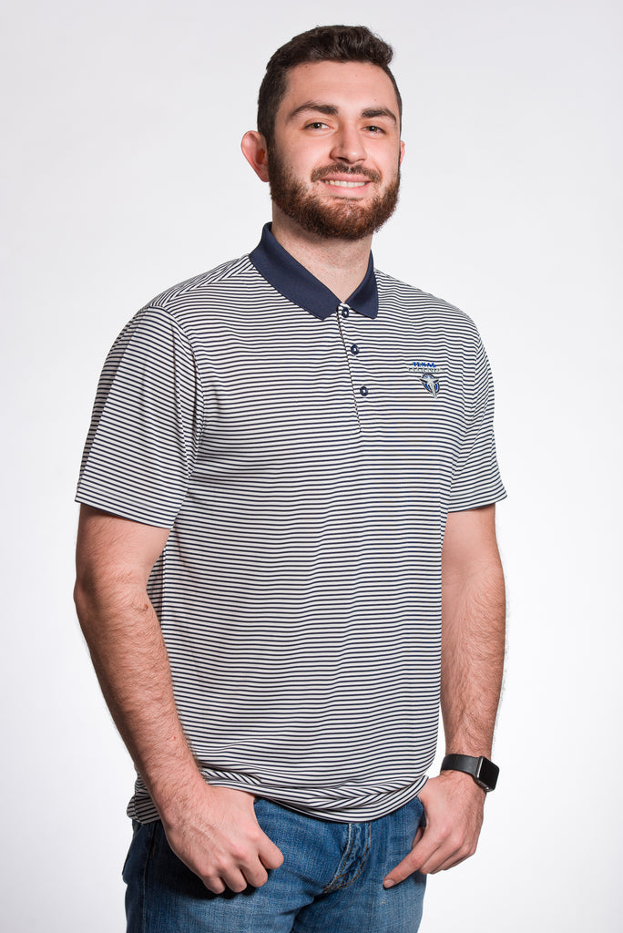 Nike Victory Mini Strip Navy Polo