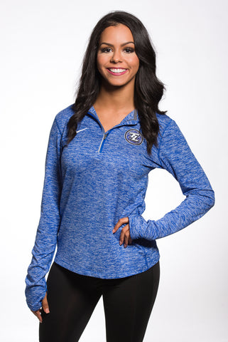 Nike Heathered Royal Blue Element Half Zip