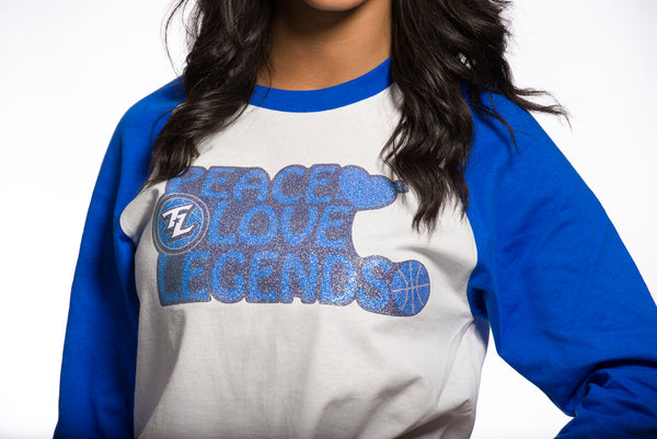 Peace, Love, Legends Baseball Tee