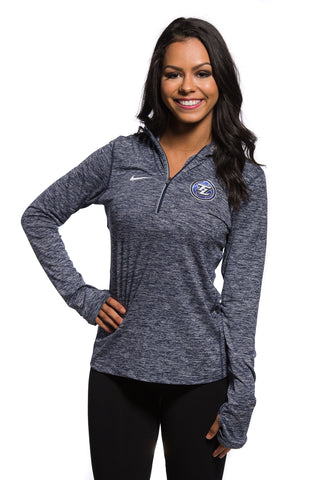Nike Heathered Navy Element Half Zip