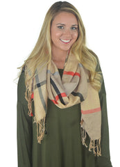 Classic Brown Scarf with Fringe