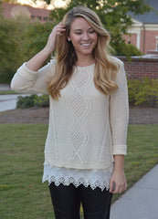 Detailed Ivory Sweater