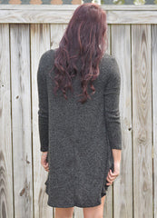 Black Swing Dress with Turtleneck