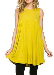 Mustard Long Tunic Top S-XL