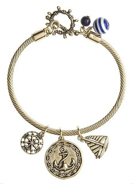 Navy Anchor Bracelet