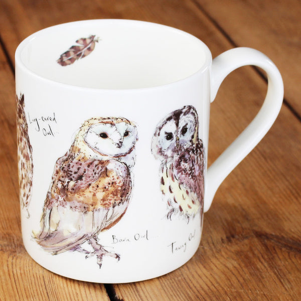 New Mug Monday: Owls China Mug by Madeleine Floyd