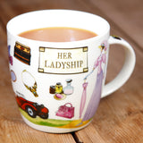 At Your Leisure Her Ladyship Gift Boxed China Mug by Churchill China