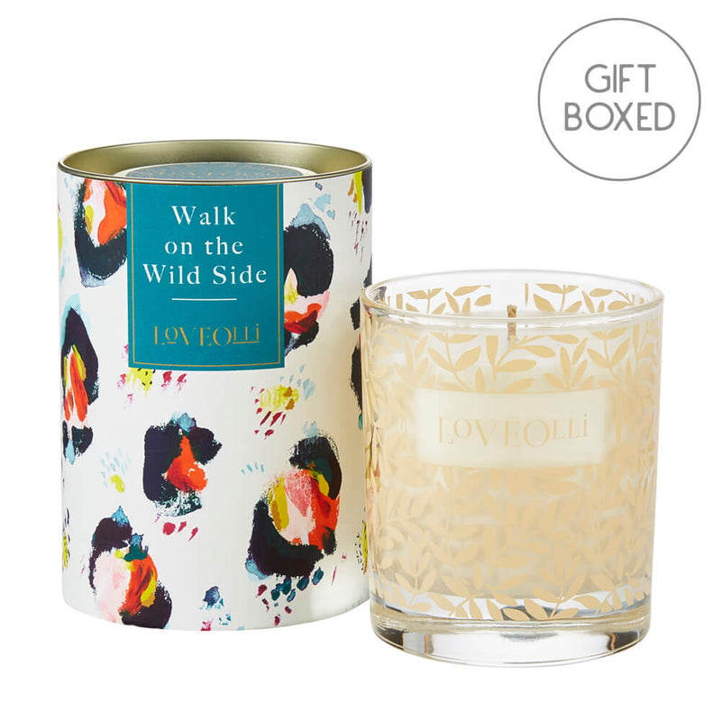 Ulster Weavers LoveOlli Glass Scented Candle - Walk On The Wild Side