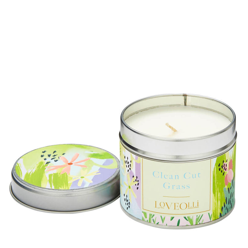 Ulster Weavers LoveOlli Spring Scented Candle in a Tin Clean Cut Grass