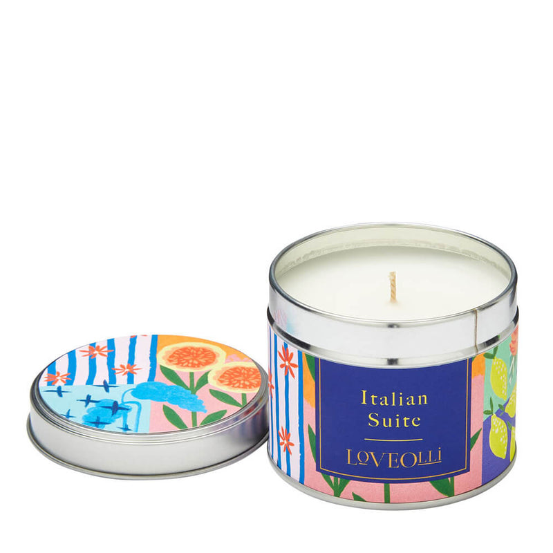 Ulster Weavers LoveOlli Floral Scented Candle in a Tin - Italian Suite