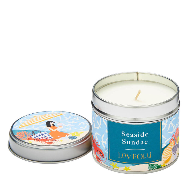 Ulster Weavers LoveOlli Scented Candle in a Tin - Seaside Sundae