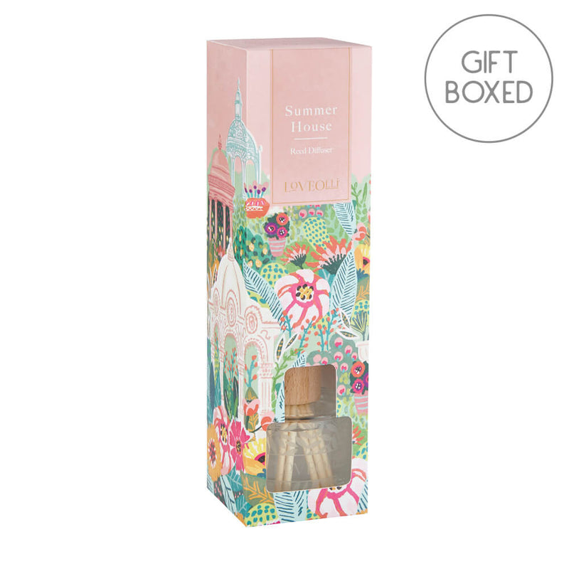 Ulster Weavers LoveOlli Glass Floral Scent Reed Diffuser Summer House