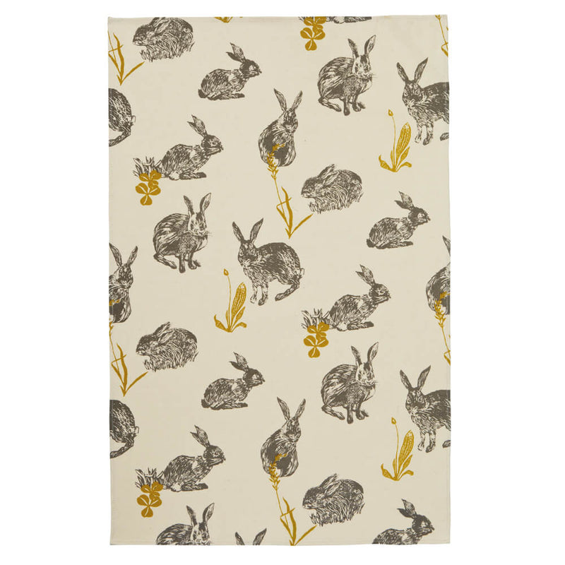 Ulster Weavers Block Print Rabbits 100% Cotton Kitchen Tea Towel