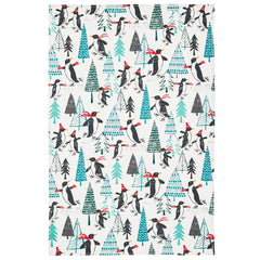 Ulster Weavers Penguins On Ice 100% Cotton Tea Towel Christmas Themed