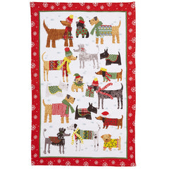 Ulster Weavers Snow Dogs 100% Cotton Tea Towel Christmas Themed
