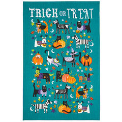 Ulster Weavers Trick or Treat Halloween Cats & Dogs Cotton Tea Towel