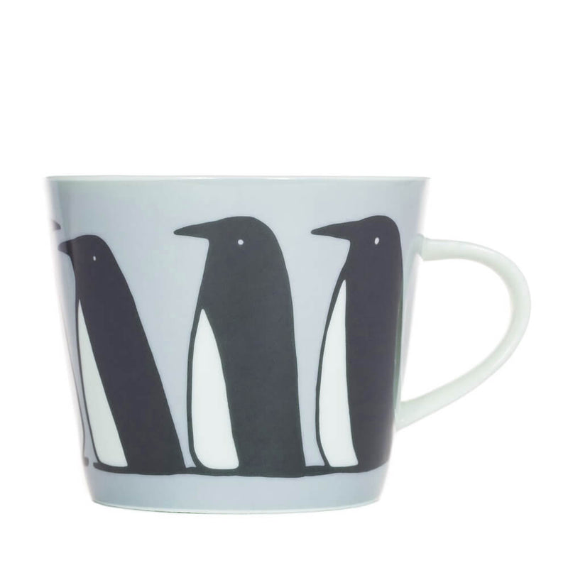MAKE Int Scion Pedro Penguin Ice Grey Festive Fine China Mug