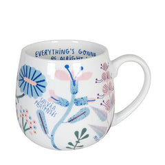 Konitz Herbal Tea Everything's Gonna Be Alright Porcelain Snuggle Mug