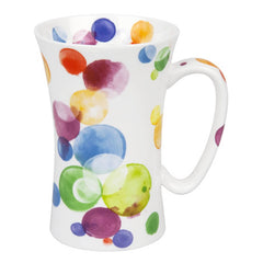 Konitz Watercolour Colourful Bubbles Mega Mug Large Bone China 580ml
