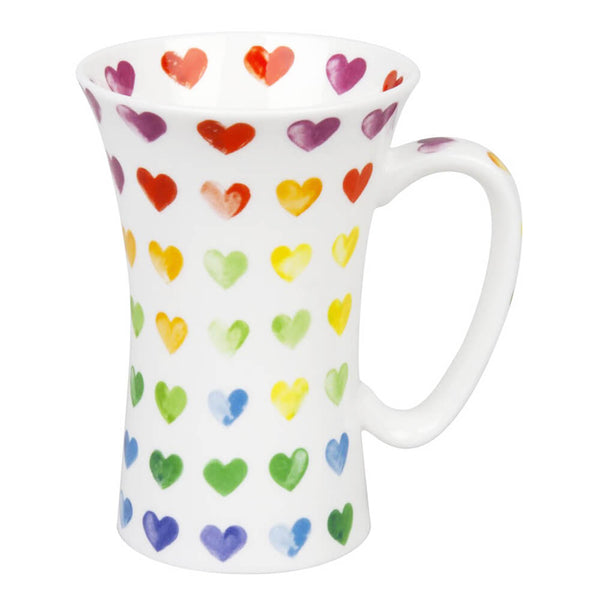 Watercolour Colourful Hearts Mega Mug
