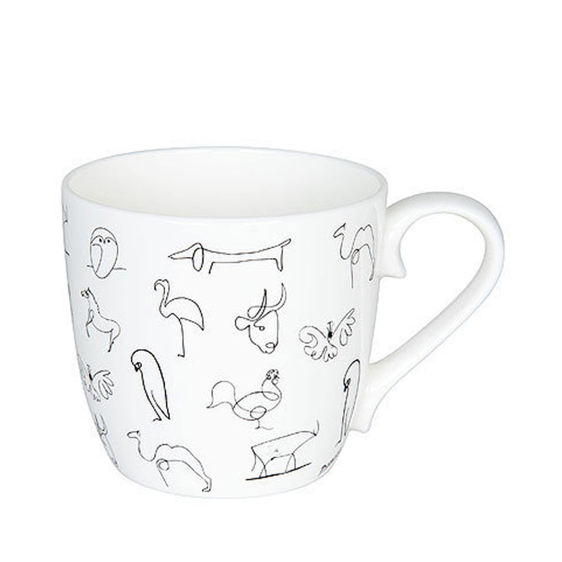 Konitz Picasso Animaux Animal Drawings Contemporary Bone China Cup