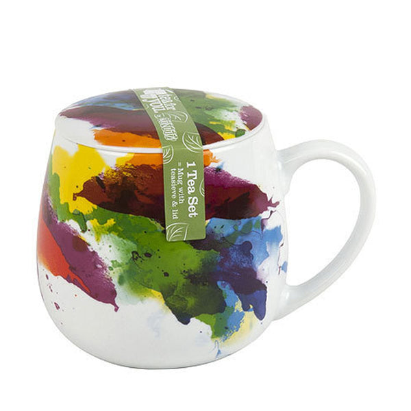 Watercolour Flow Snuggle Tea Infuser Mug
