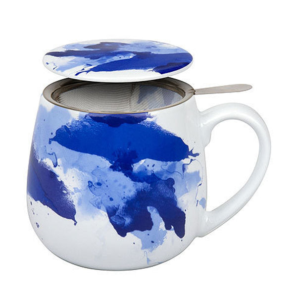 Watercolour Seeing Blue Snuggle Tea Infuser Mug