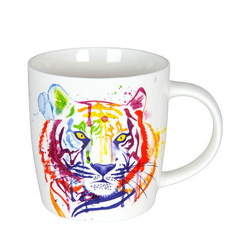 Konitz Watercolour Animals Rainbow Tiger Porcelain Coffee Cup 350ml
