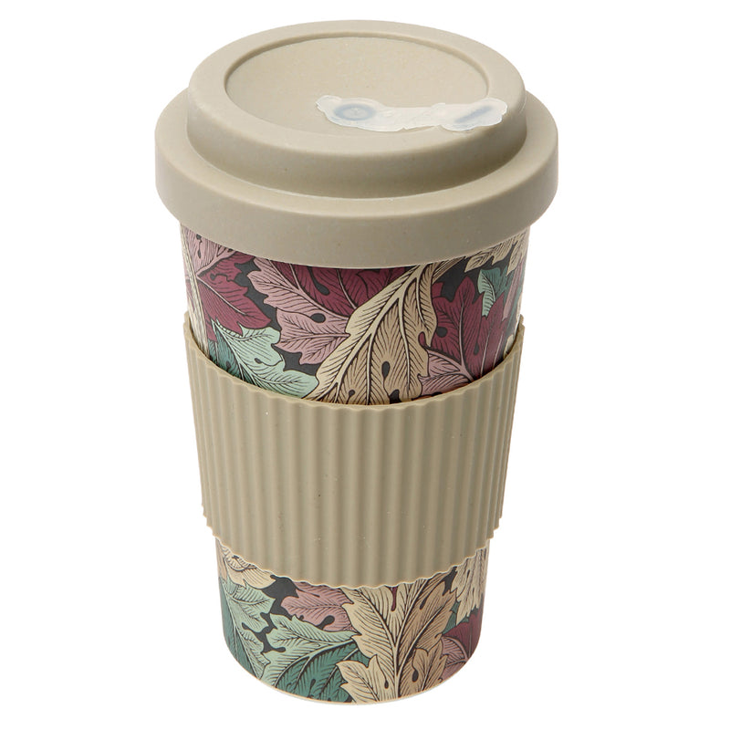 Dexam Morris & Co Acanthus Jewel Bamboo Travel Mug Reusable Cup