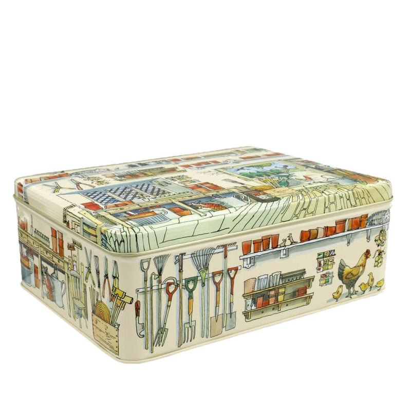 Elite Tins Emma Bridgewater Potting Shed Deep Rectangle Storage Tin