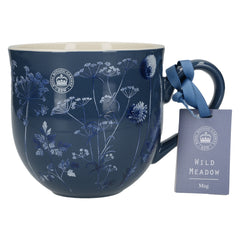 Kew Gardens Wild Meadow Navy Blue Ceramic Floral Mug by Creative Tops