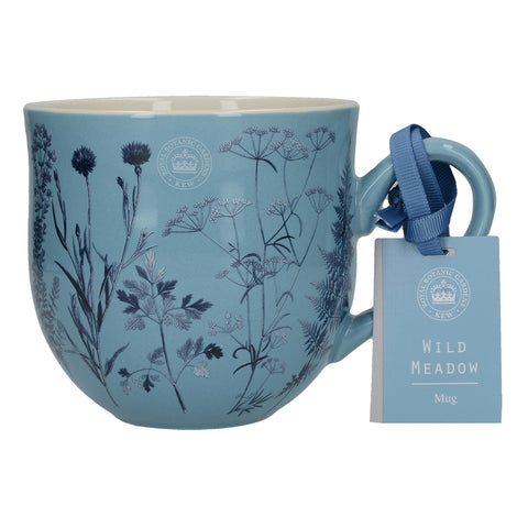 Kew Gardens Wild Meadow Blue Mug by Creative Tops